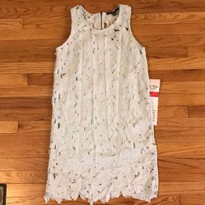 NWT Floral Lace Mint Colored Dress